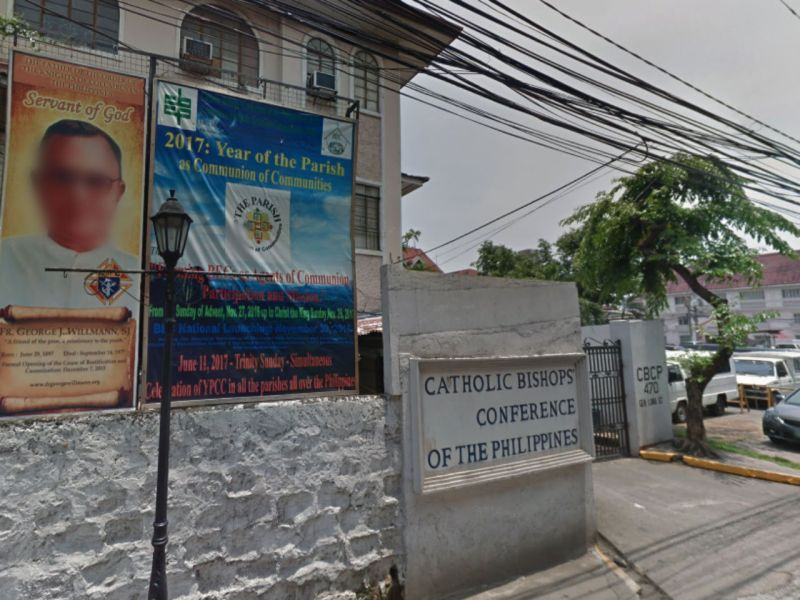 Catholic Bishops Conference of the Philippines. Photo: Google Maps