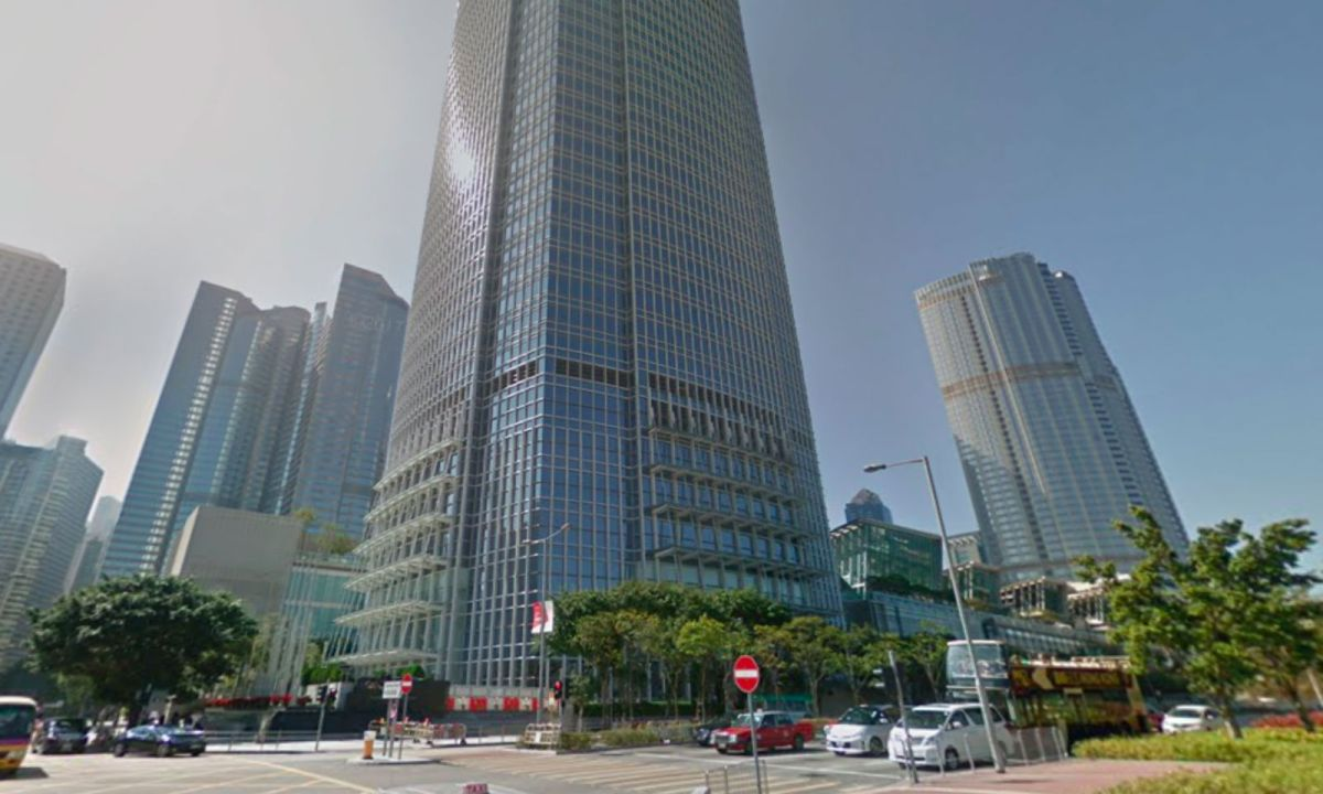 The International Finance Centre in Central on Hong Kong Island. Photo: Google Maps