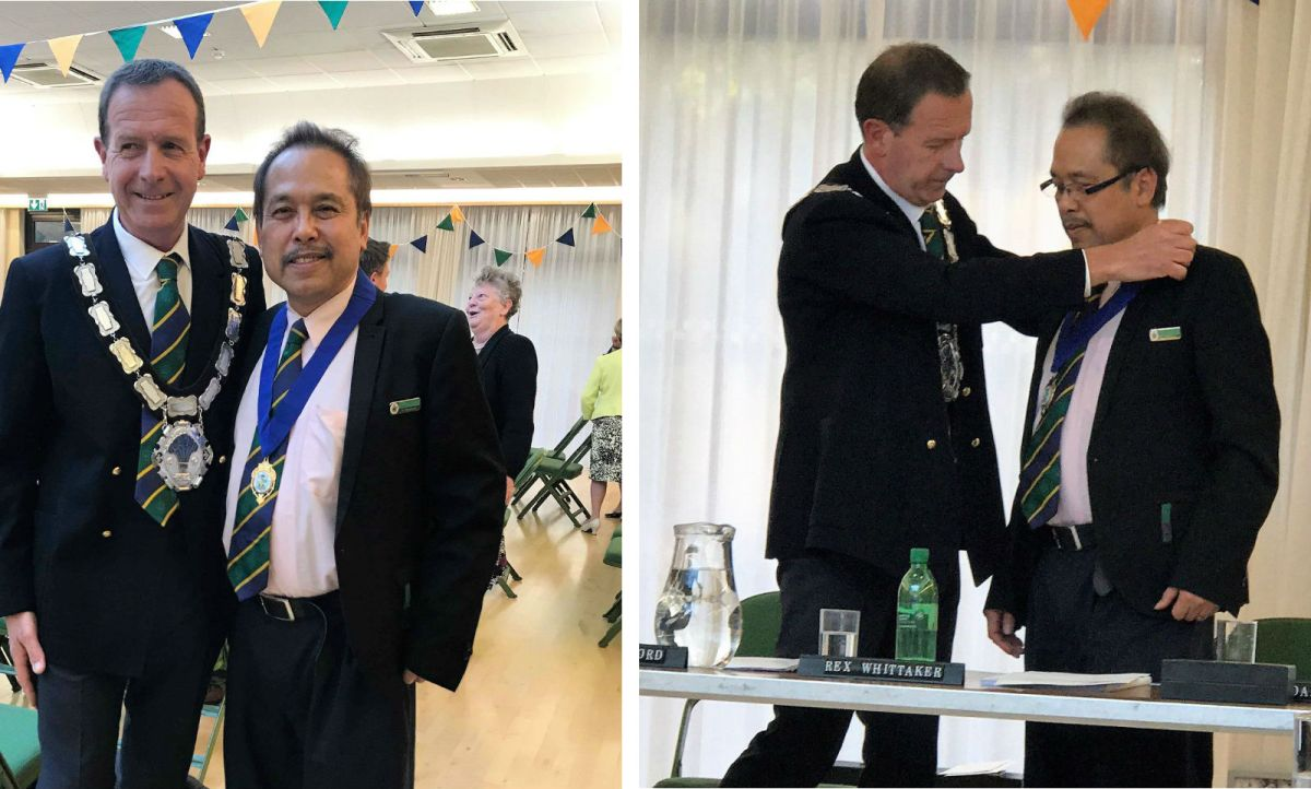 A Filipino nurse was elected as the deputy mayor in East Grinstead in Southern England, making him the first Filipino to win an elective post in the UK. Photo: Facebook/ Philippine Embassy in London