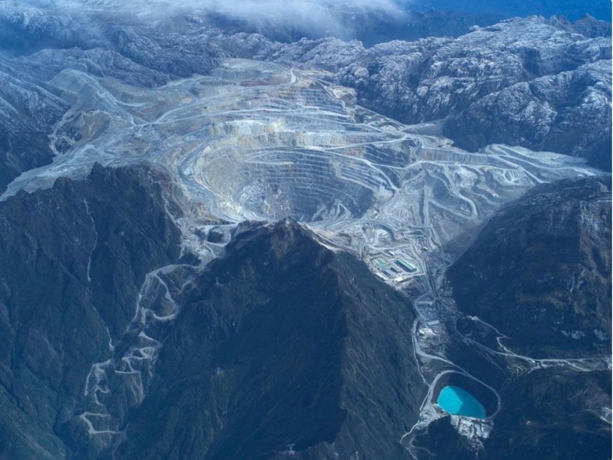 Aerial view of Indonesia's Grasberg mine operated by US mining giant Freeport McMoran Copper & Gold. Picture: Facebook