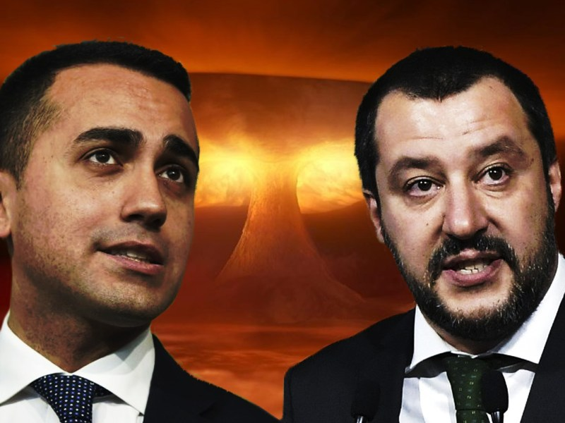Anti-establishment Five Star Movement leader Luigi Di Maio (left) and leader of the far-right party Lega, Matteo Salvini. Photos: AFP, iStock