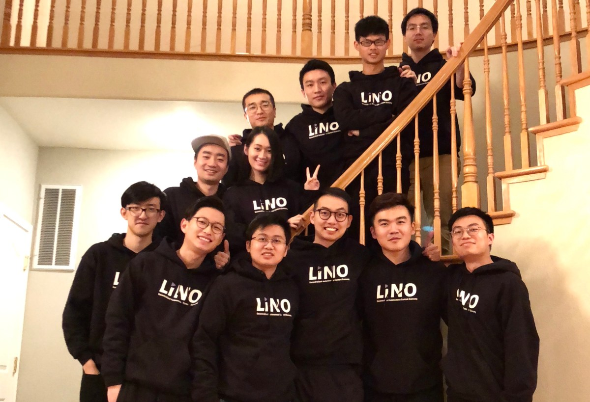 The Lino team. Photo: lino.network