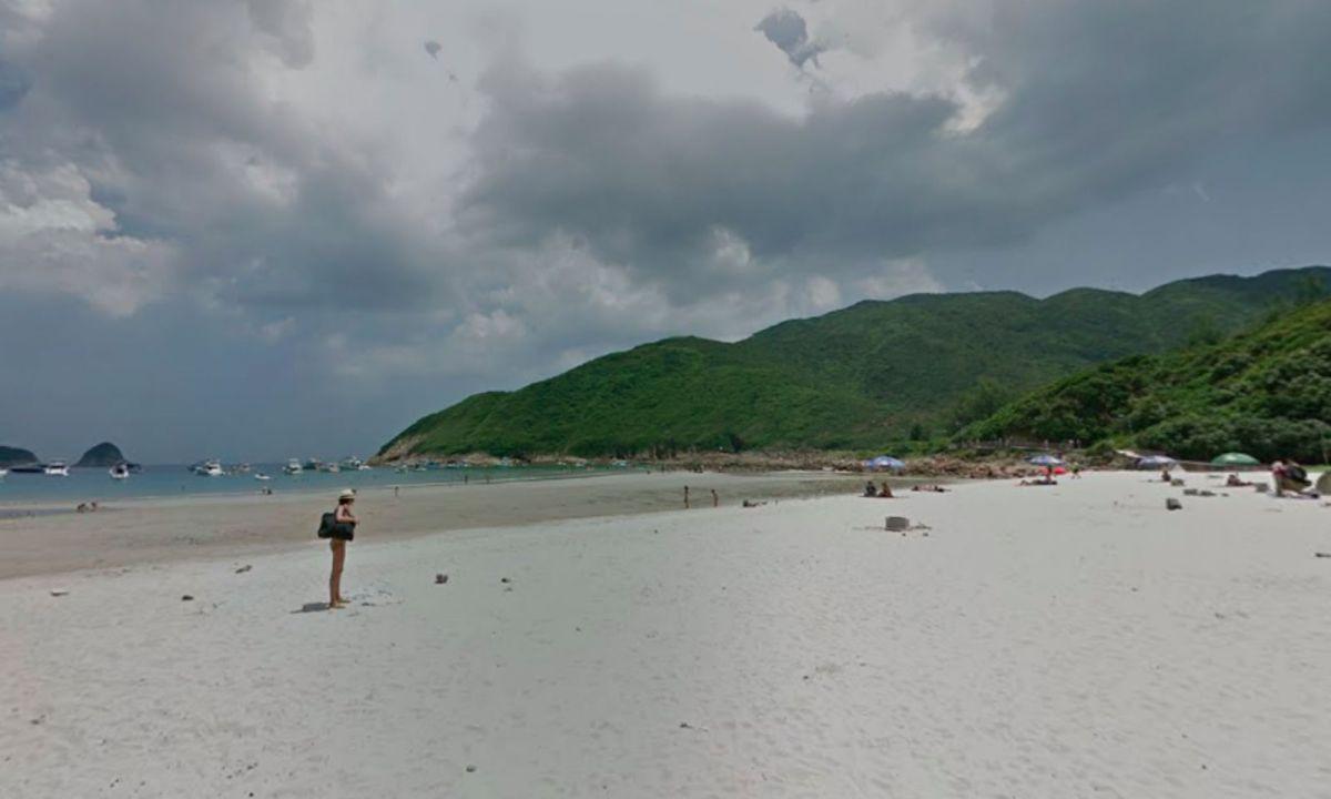 Sai Wan beach in Sai Kung, New Territories. Photo: Google Maps