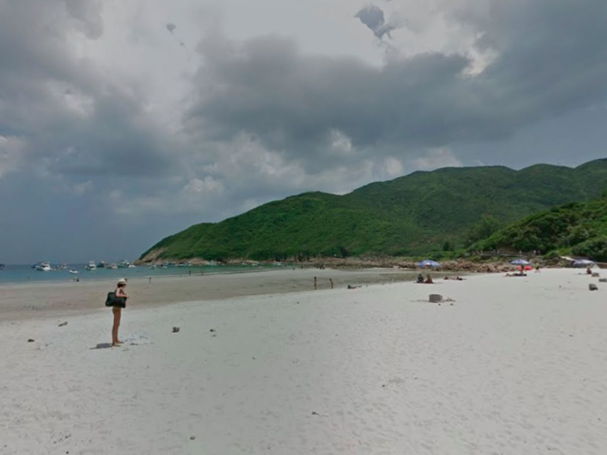 Sai Wan beach in Sai Kung, New Territories. Photo: Google Maps