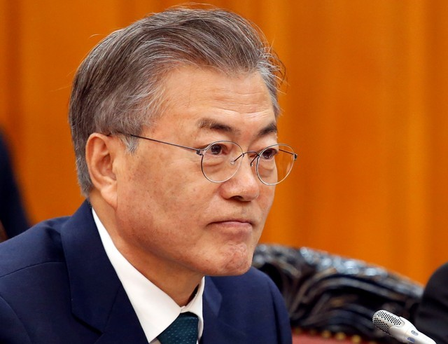 South Korean President Moon Jae-in's popularity has slipped. Photo: Reuters/Kham/Pool