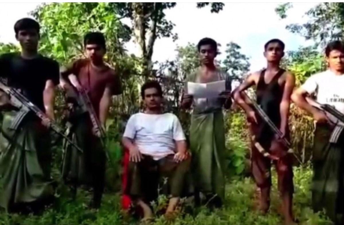 A screenshot from an Arakan Rohingya Salvation Army propaganda video. Photo: Youtube
