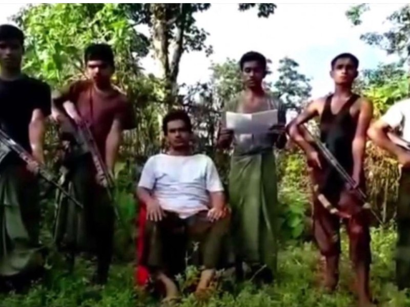 A screenshot from an Arakan Rohingya Salvation Army propaganda video. Photo: Youtube