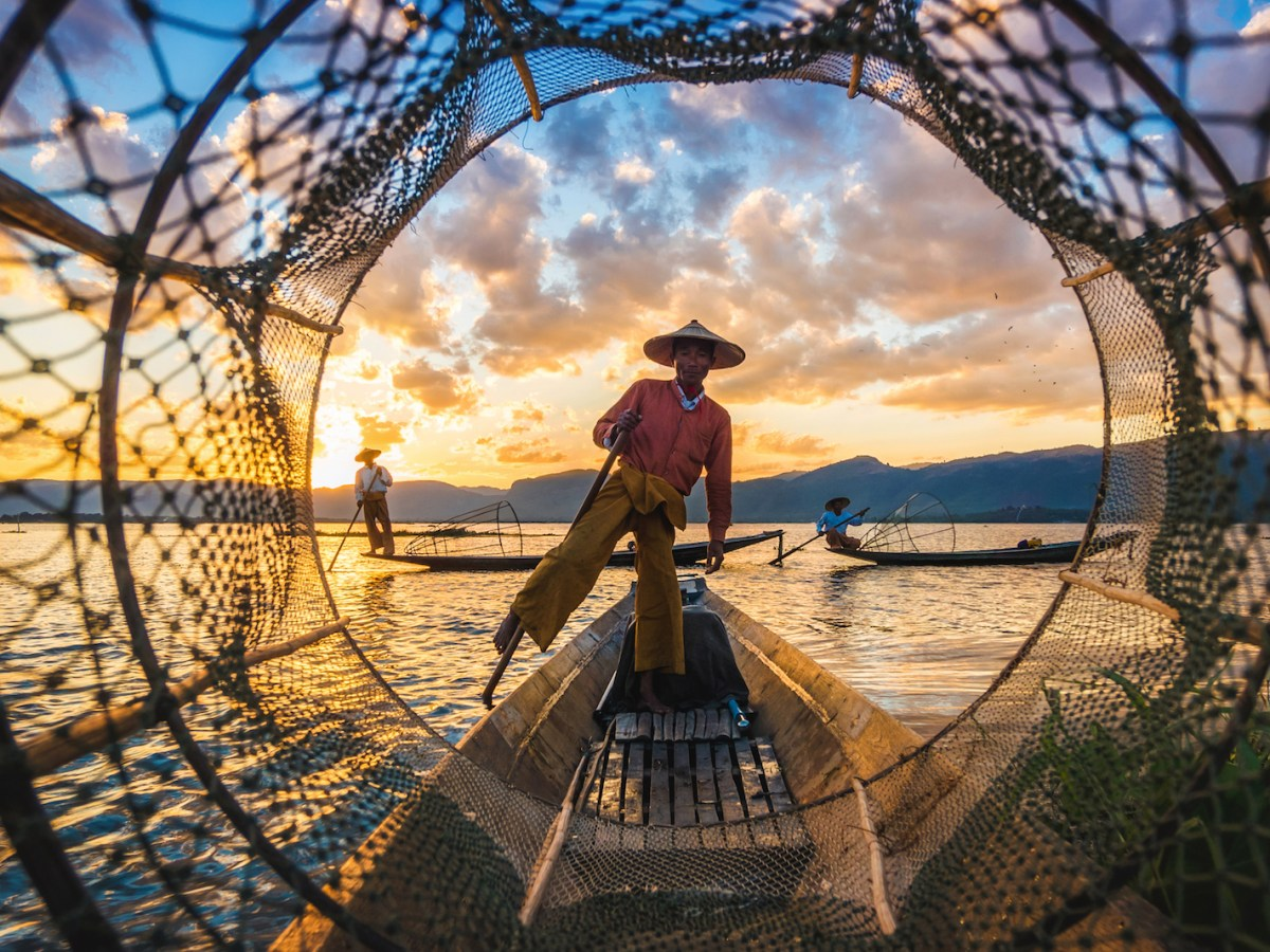 A fisherman on Inle Lake, one of Myanmar's top picturesque tourist attractions. Photo: iStock/Getty Images
