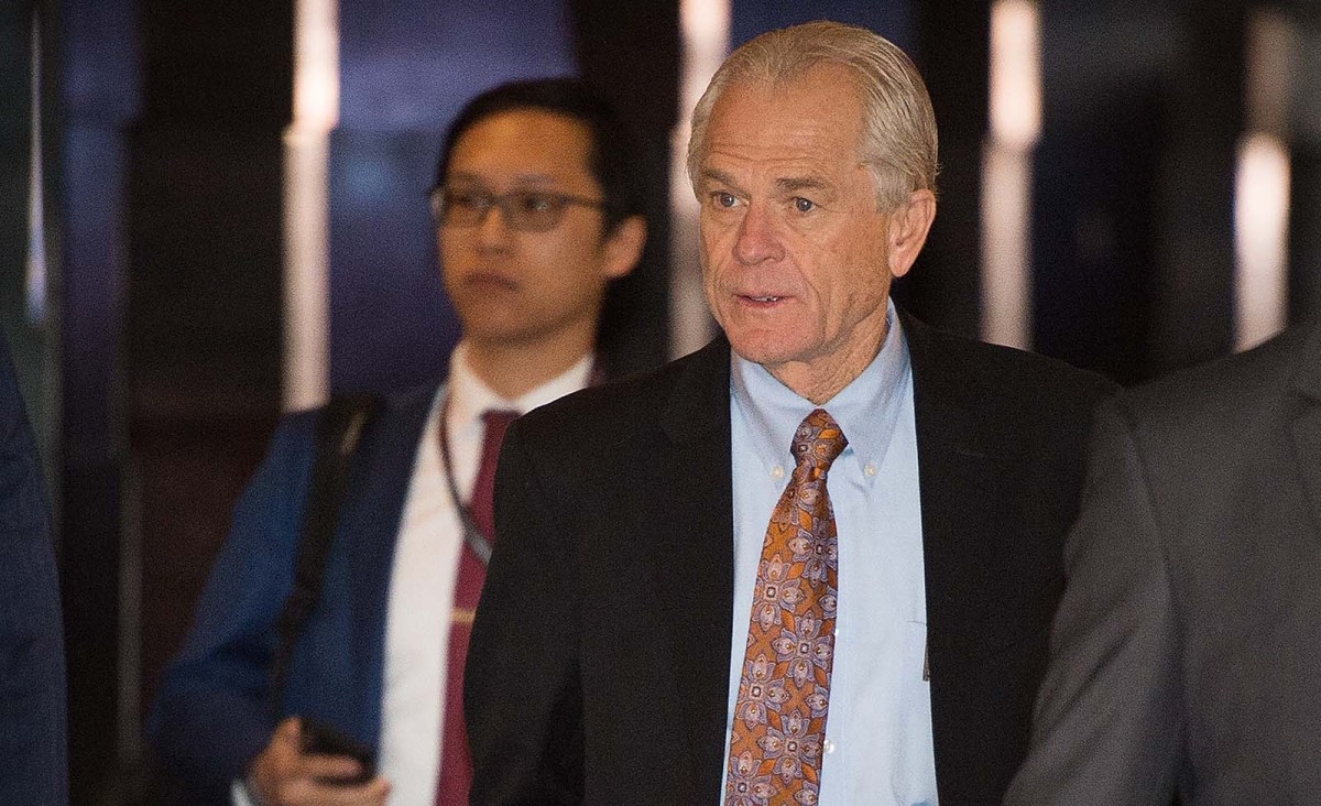 White House economic adviser Peter Navarro in Beijing on May 4, 2018 for the US-China trade talks. Photo: AFP/Nicolas Asfouri