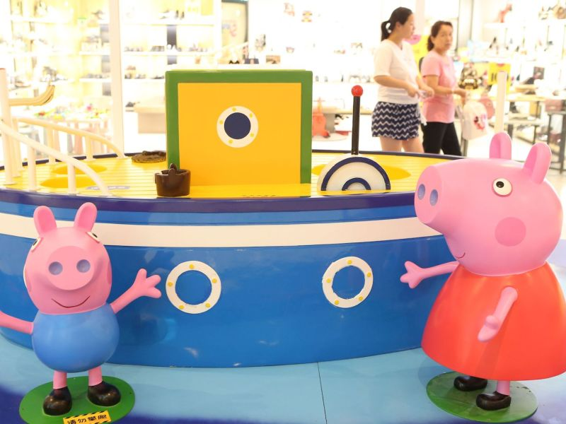 A Peppa Pig themed exhibition in Shanghai last year. Photo: AFP