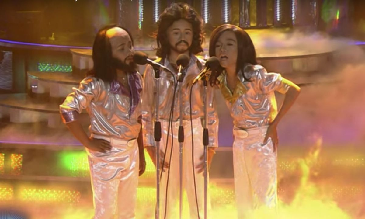 "TNT Boys perform ""Too Much Heaven"" on the TV show 'Your Face Sounds Familiar Kids'. Photo: YouTube"