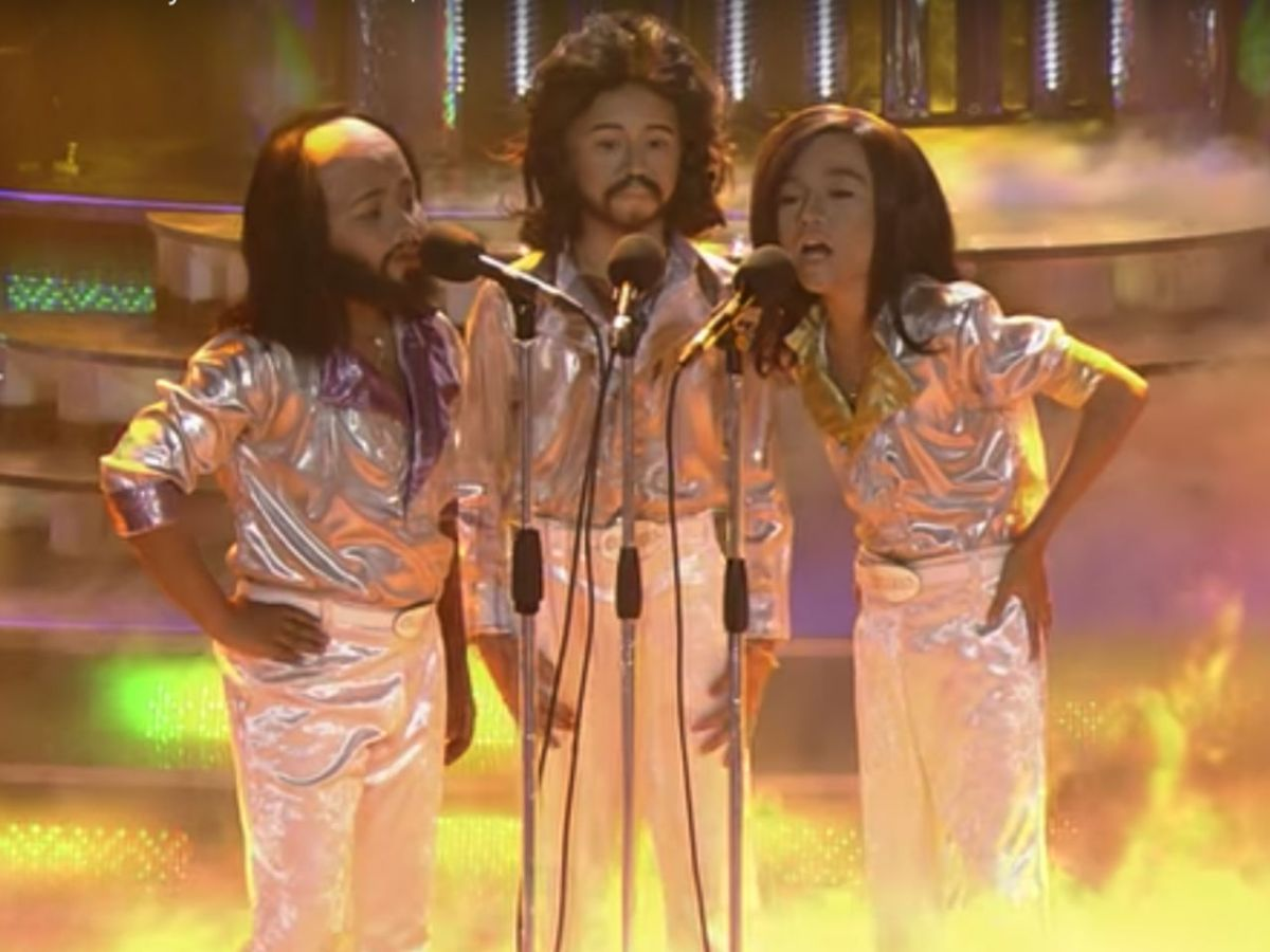 """TNT Boys perform """"Too Much Heaven"""" on the TV show 'Your Face Sounds Familiar Kids'. Photo: YouTube"""