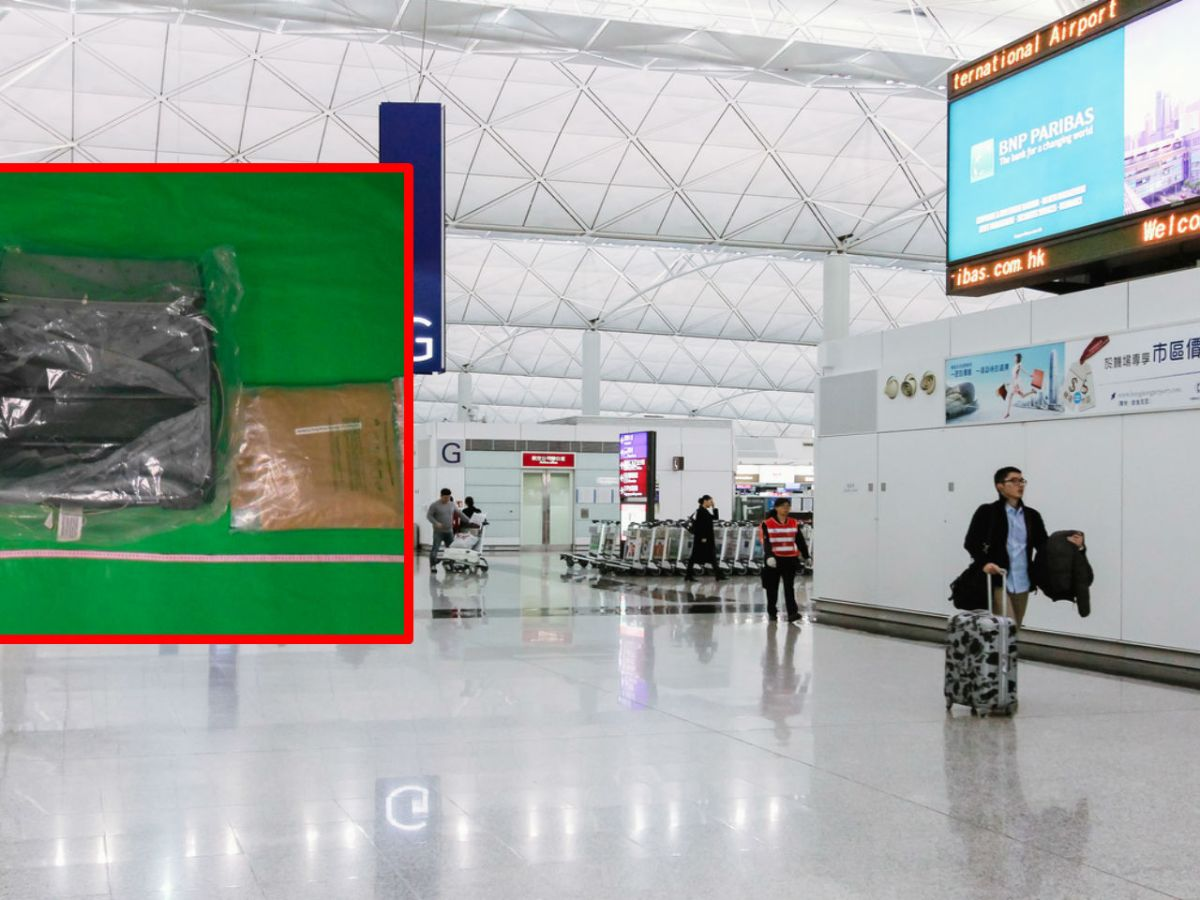 Customs officials at Hong Kong International Airport sized 3.6kg of suspected methamphetamine in the man's bag. Photo: iStockphoto, HK government
