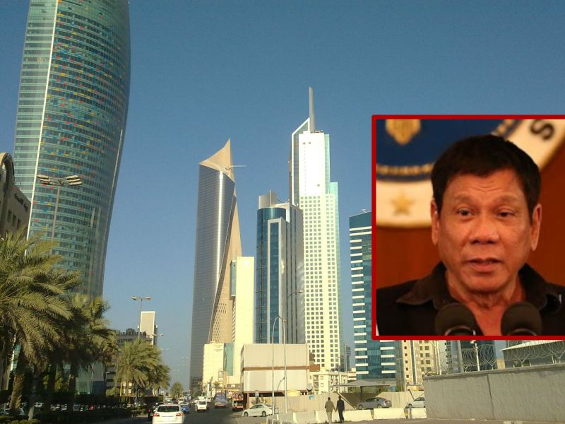 President Rodrigo Duterte ordered the total lifting of the ban on Filipinos working in Kuwait. Photo: Wikimedia Commons, Presidential Office