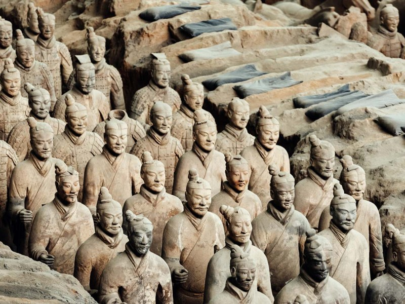 The Terracotta Warriors in Xian were created using an assembly production system. Photo: iStock
