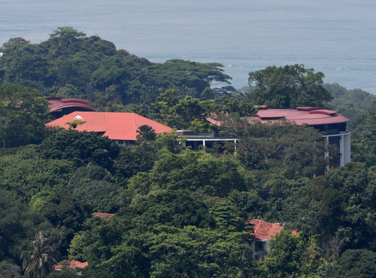 A view of the Capella hotel on Sentosa Island, Singapore. Photo: AFP/Roslan Rahman