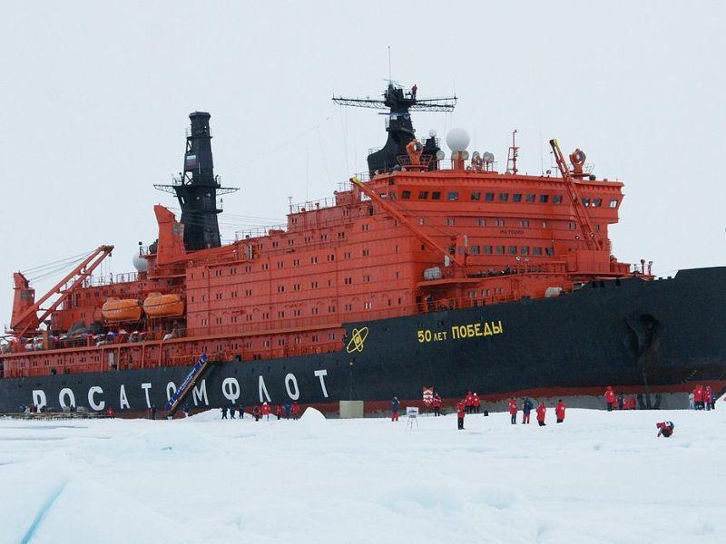 Russian nuclear icebreaker 50 Let Pobedy. Photo: Kiselev d/WikiMedia