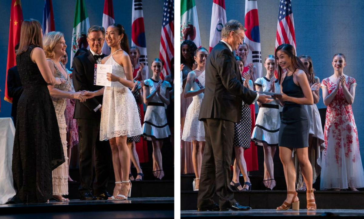 Veronica Atienza (left) and Nicole Klaudine Barroso both received the Jury Award of Encouragement at the USA International Ballet Competition. Photos: USA International Ballet Competition