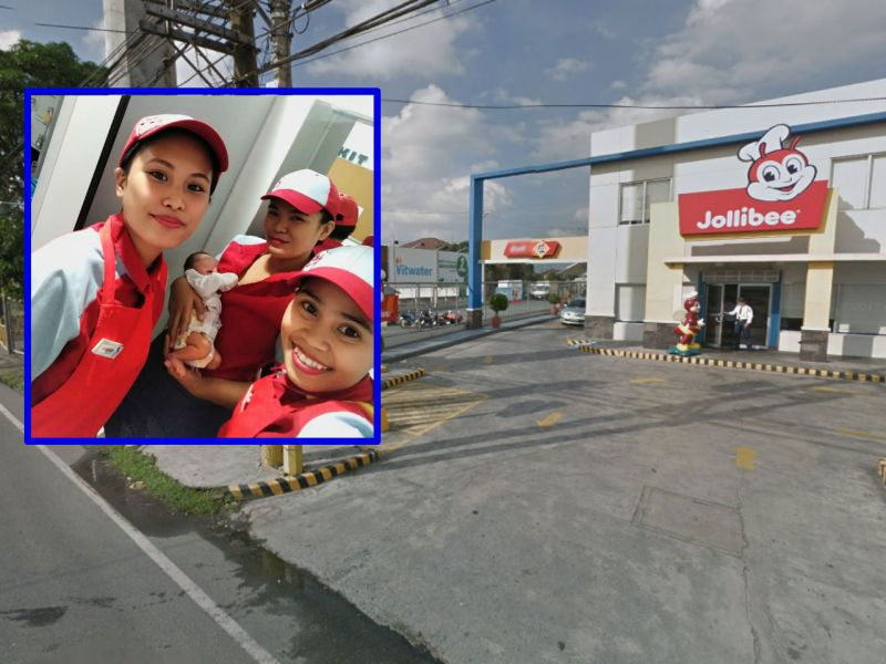 A newborn baby was found outside a Jollibee restaurant in Imus, Cavite. Photo: Facebook, Google Maps