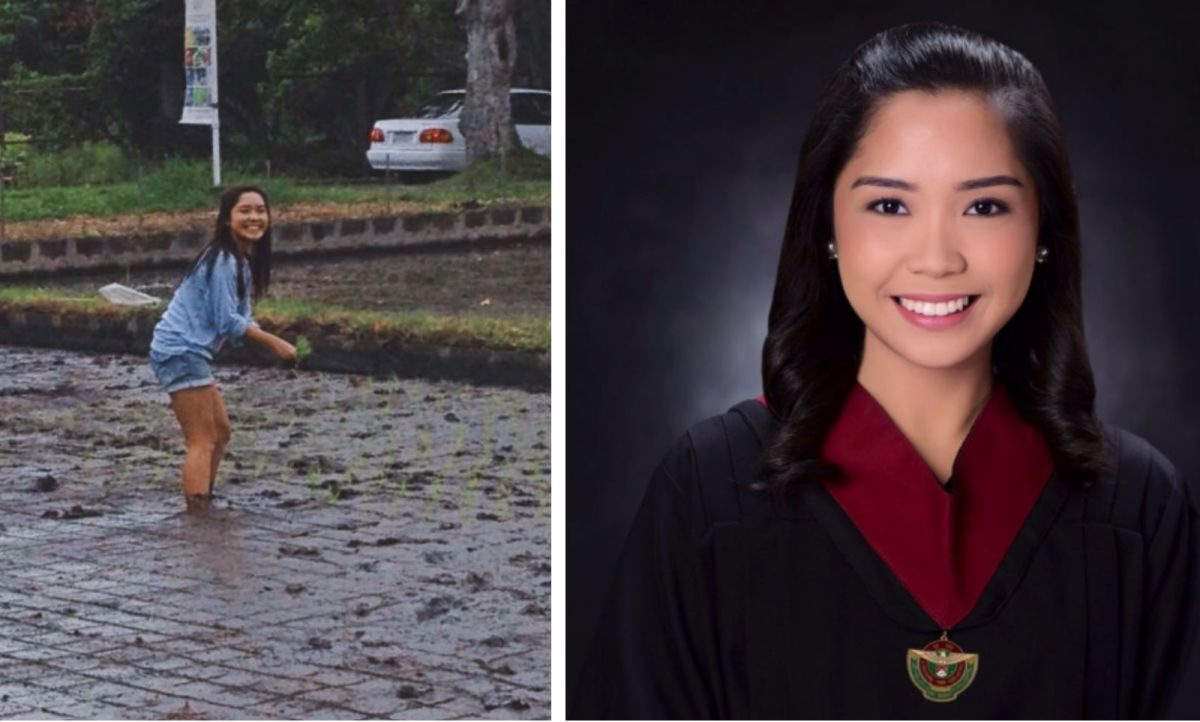 Johanna Lyn Estolino graduate from the University of the Philippines - Los Banños with a degree in Agribusiness Management. Photo: Twitter/@joha_inoc