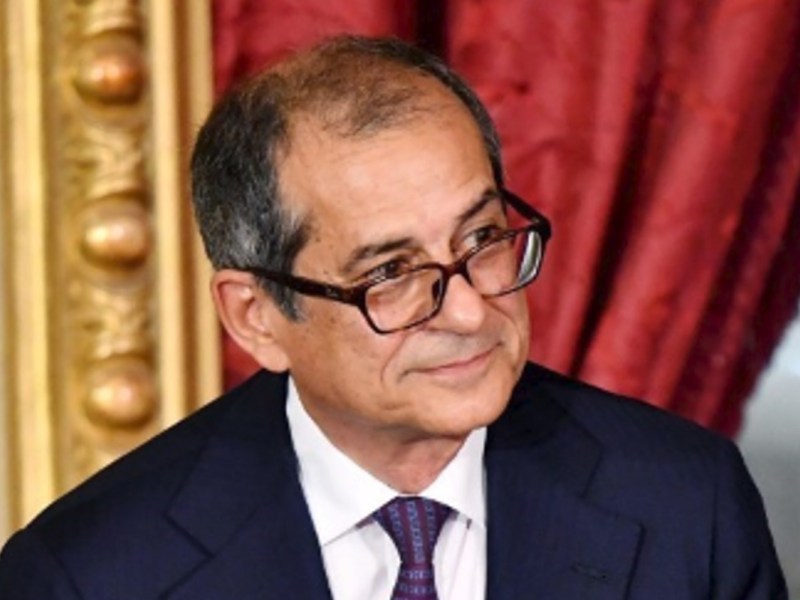Italian Finance Minister Giovanni Tria. Photo: AFP/Alberto Pizzoli