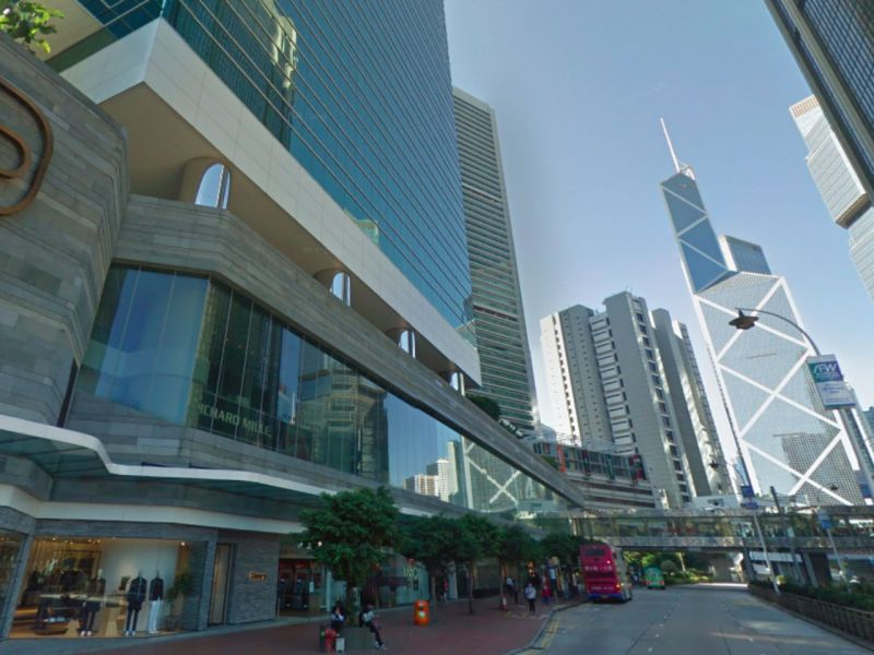 Queensway on Hong Kong Island. Photo: Google Maps