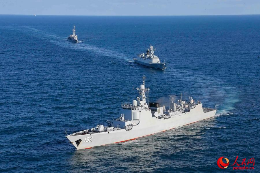 A file photo of the Jinan, a Type 052C destroyer. Photo: People's Daily