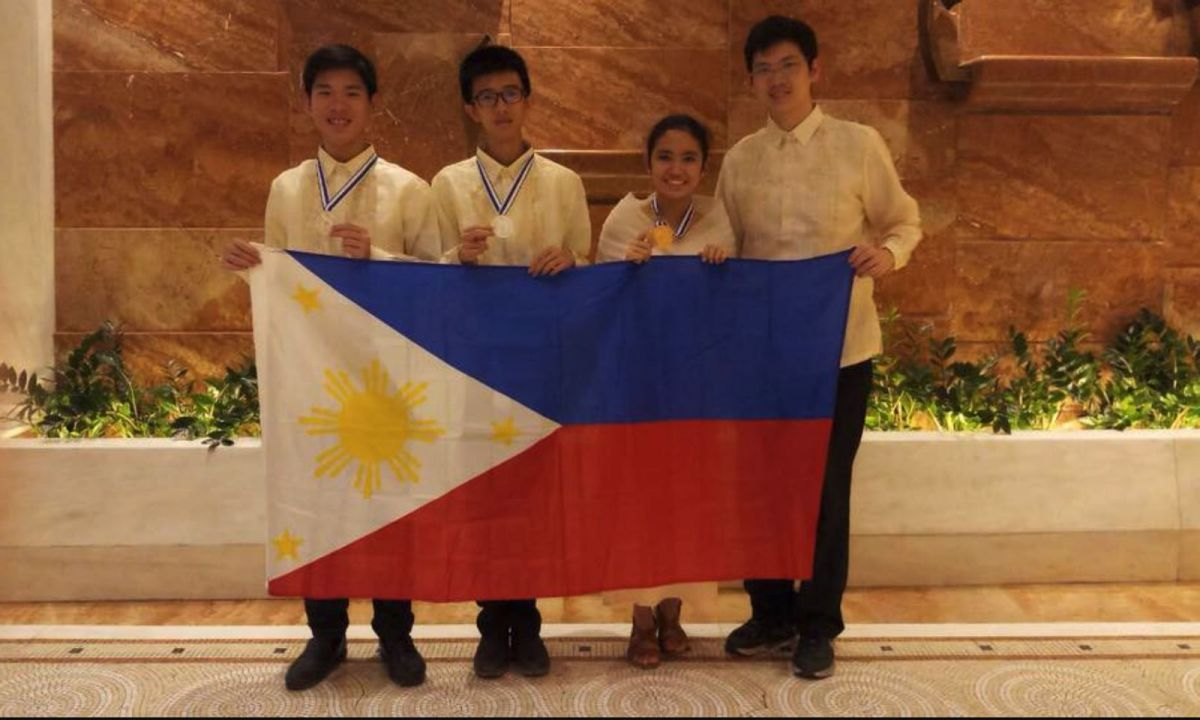 Three Filipino high school students represented the Philippines in the 22nd Junior Balkan Mathematical Olympiad held in Rhodes, Greece. Photo: Mathematics Training Guild-Philippines