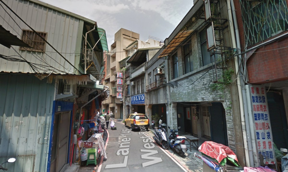 The old neighborhood of Taiyuan Road in Datong District of Taipei City. Photo: Google Maps