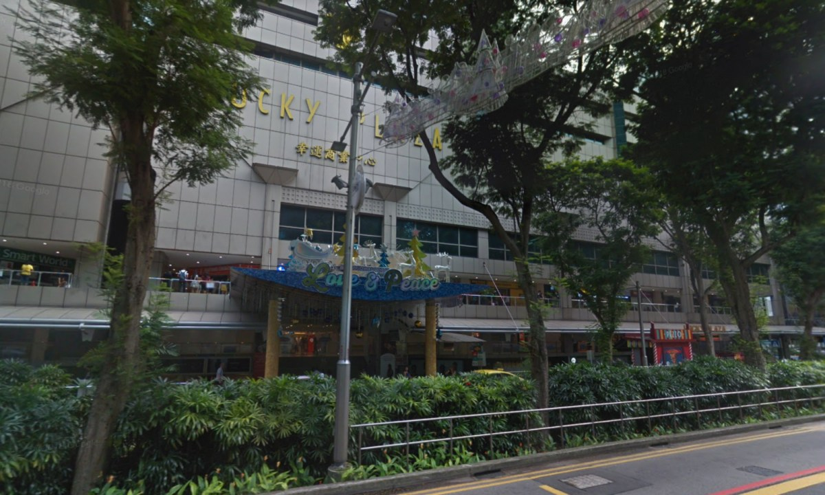 Every Sunday workers have been seen gathering around Lucky Plaza on Orchard Road, Singapore. Photo: Google Maps
