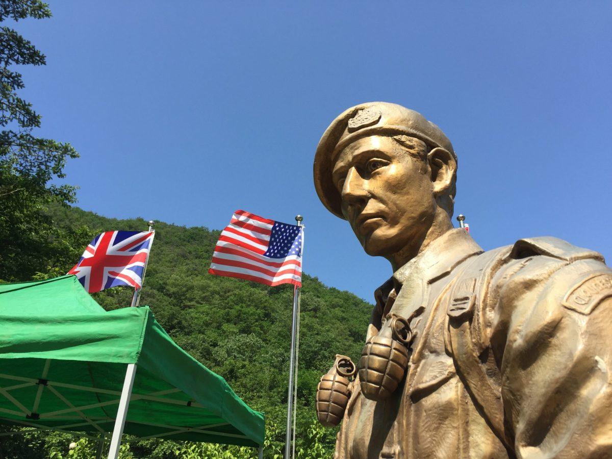 A statue at the British Korean War memorial at Solma-ri, South Korea. Photo: Andrew Salmon/Asia Times