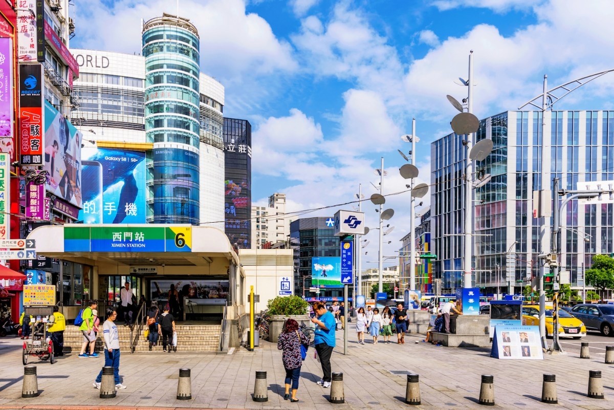 A busy scene of Ximen shopping district in the downtown area of Taipei. Photo: iStock