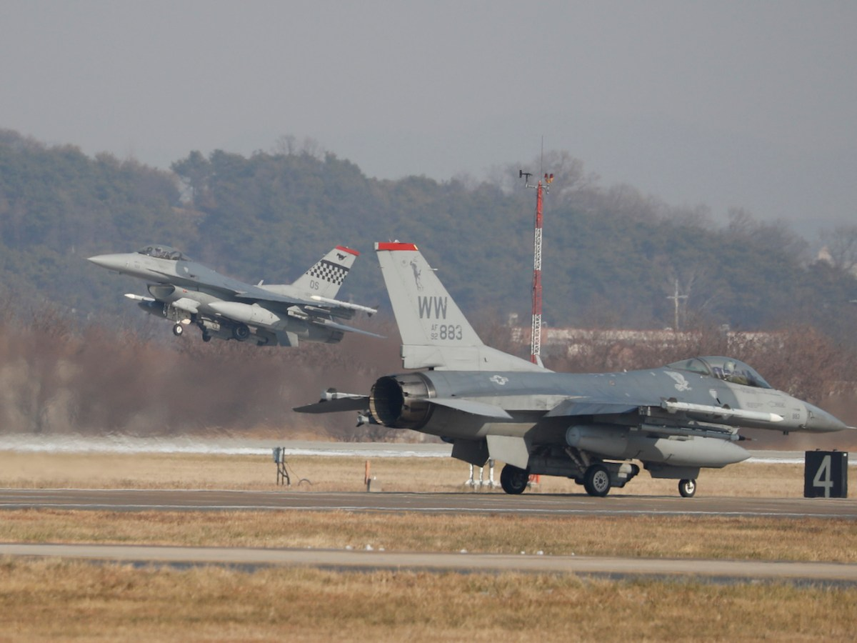US Air Force F-16 fighter jets take part in a joint drills at Osan Air Base in Pyeongtaek, South Korea last December. The war games are set to end, but will the US fully withdraw from the peninsula? Photo:AFP/ pool/ Kim Hong-ji