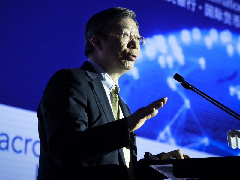 Yi Gang, the governor of the People's Bank of China, has tried to reassure investors. Photo: AFP / Wang Zhao