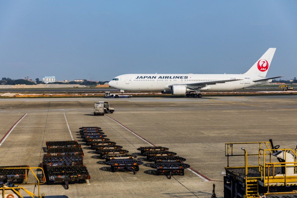 A Japan Airlines jet lands at Taipei airport in Taiwan. Photo: iStock