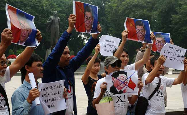 Vietnam protest. Photo: AFP