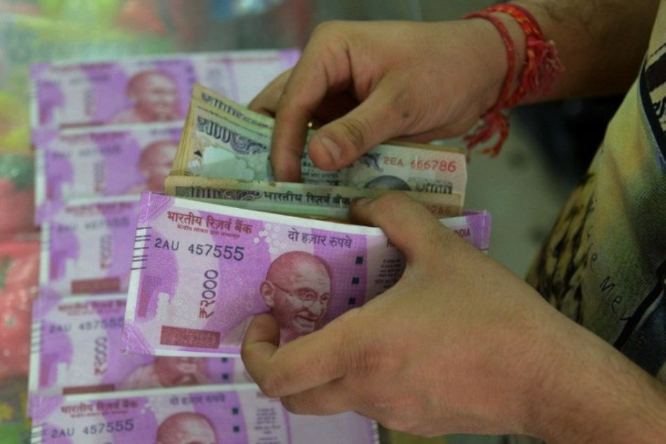 The Indian rupee. Photo: AFP