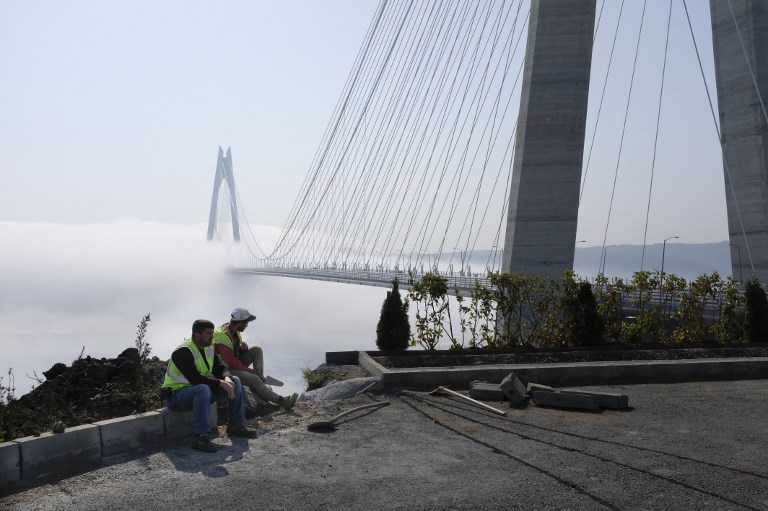 The Yavuz Sultan Selim bridge is the third Bosphorus bridge connecting Europe with Asia in Istanbul. Photo: AFP