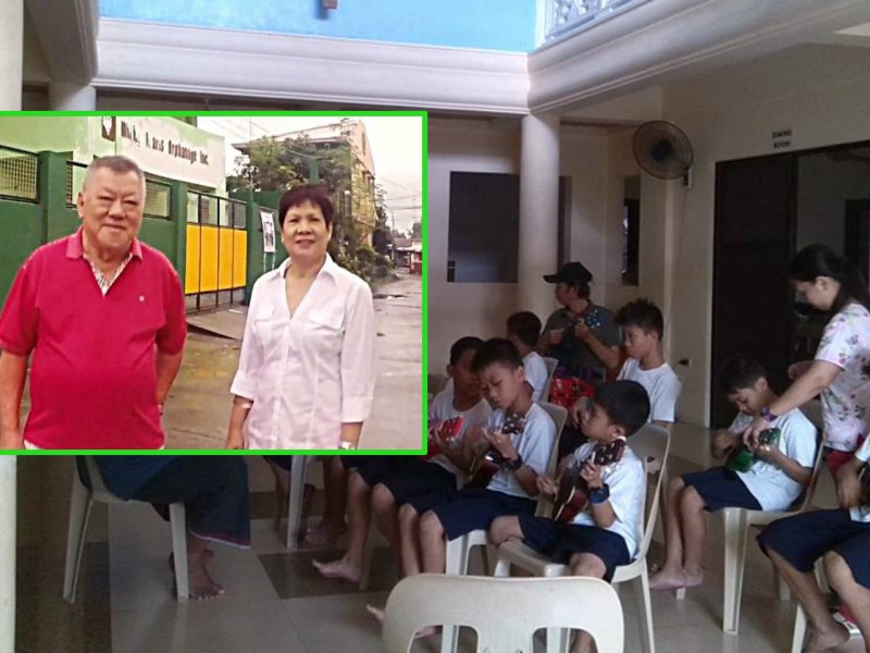 Thomas Wee, left, and Maria Teresa set up the orphanage in 2008. Photo: Facebook/ Willing Hearts Orphanage, Our Better World