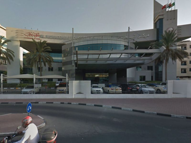 Muraqqabat Police station in Bur Dubai, where the Filipino mother left her newborn baby. Photo: Google Maps