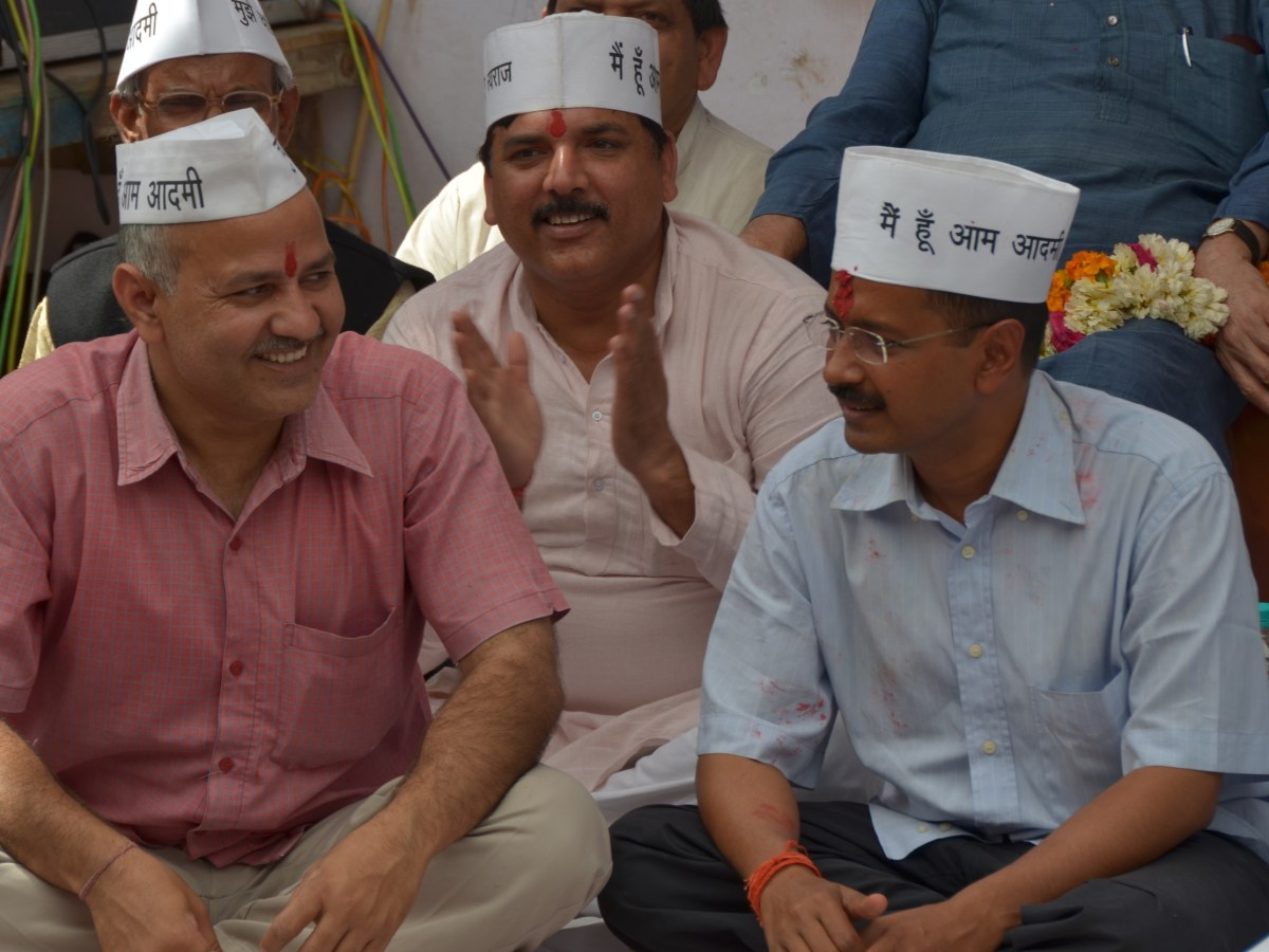 Delhi Chief Minister Arvind Kejriwal (right) with his deputy Manish Sisodia. Photo: Courtesy Aam Aadmi Party