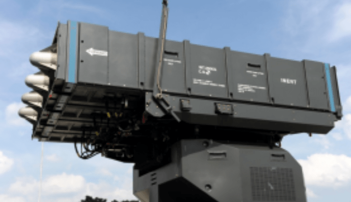 The short-range version of the Spyder missile unit can carry four Python-5 or Derby surface-to-air missiles in any combination. Photo: Handout