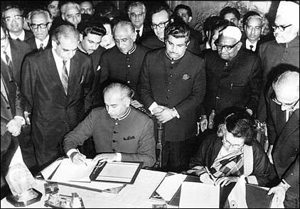 The Simla Agreement was signed between Prime Minister Indira Gandhi and Prime Minister Zulfikar Ali Bhutto in 1972, after the 1971 war. Photo: Bhutto.org