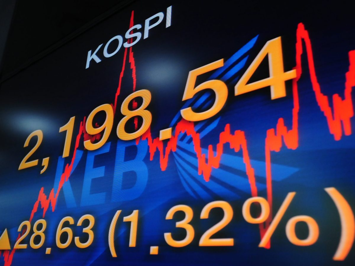 An electronic screen displaying the South Korean benchmark stock index at the Korea Exchange Bank in Seoul on April 21, 2011. The NPS will now take an active role in the companies they invest in. Photo: AFP/Park Ji-Hwan