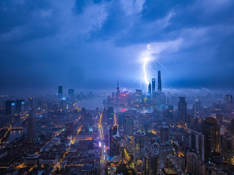 Shanghai caught in the eye of the storm. Photo: iStock