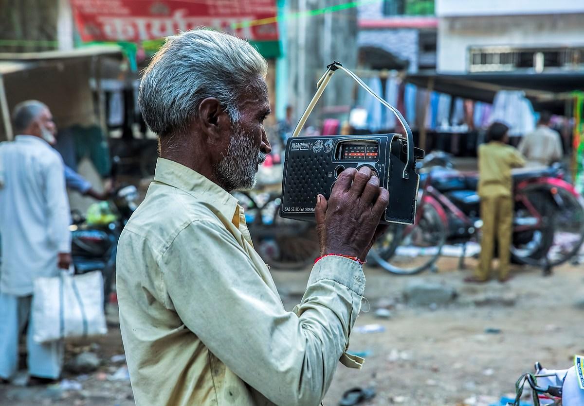 Indian man listening to radio. Photo: iStock
