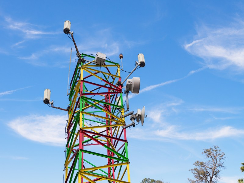 A communication tower. Photo: iStock