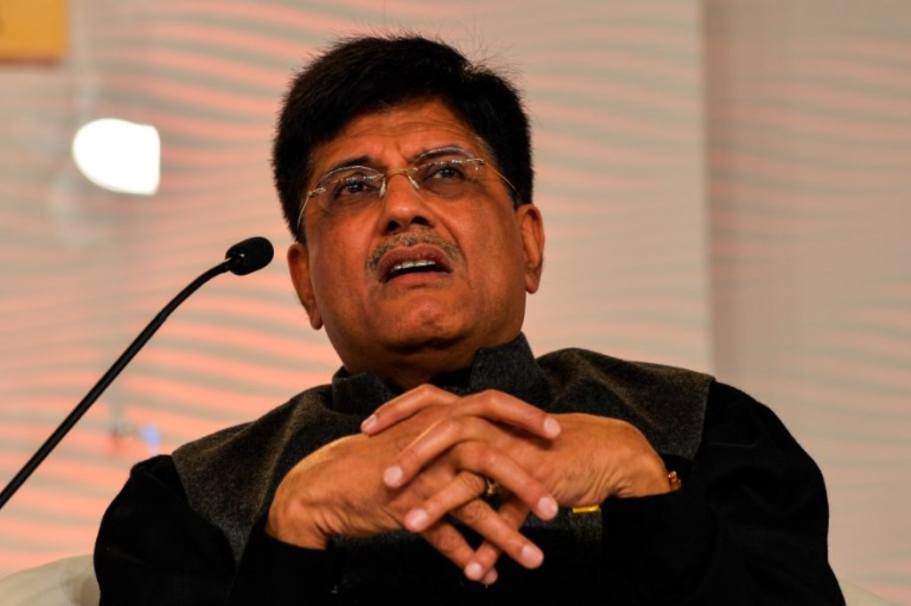 Indian Finance Minister Piyush Goyal: AFP