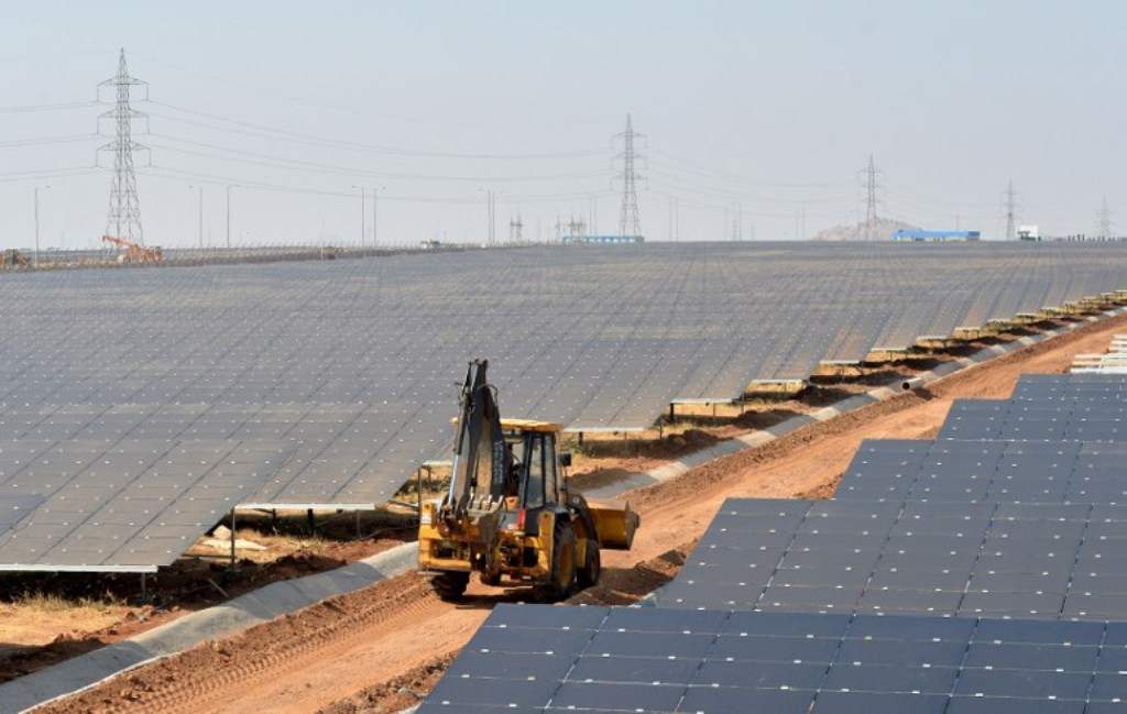 A solar power plant near Bangalore: AFP
