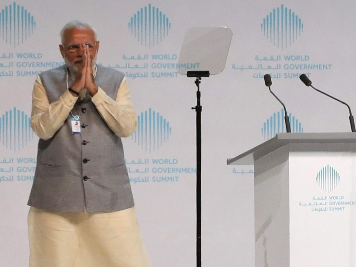 India's Prime Minister Narendra Modi at the World Government Summit in Dubai in February 2018. The UAE is sending relief to India's flood-stricken state of Kerala, a testament to the strong ties between the two countries. Photo: AFP/Karim Sahib